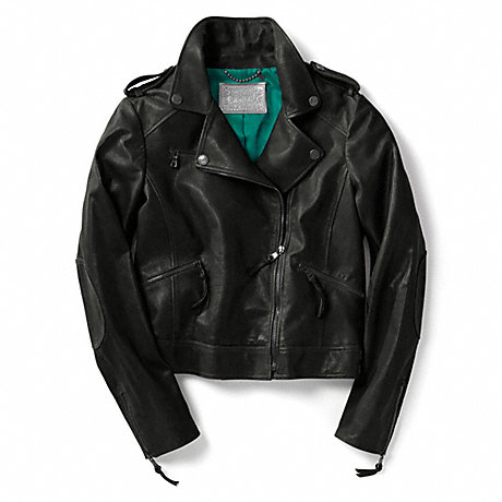 COACH TYLER LEATHER MOTO JACKET -  - f80929
