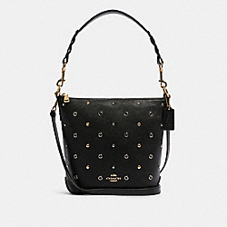 MINI ABBY DUFFLE WITH GROMMETS - IM/BLACK - COACH F82130