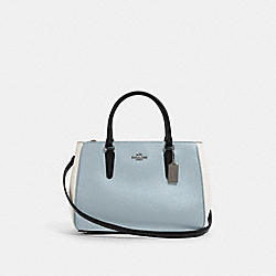 SURREY CARRYALL IN COLORBLOCK - SV/PALE BLUE MULTI - COACH F82132