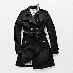 COACH MADELINE TRENCH - BLACK - F82394