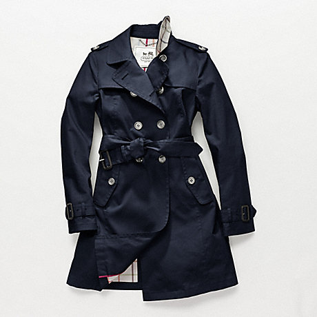COACH MADELINE TRENCH - NAVY - f82394