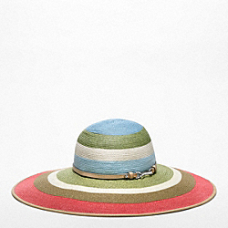 COACH HAMPTONS STRIPE STRAW HAT - ONE COLOR - F82583