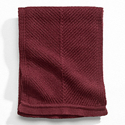 SOLID MERINO KNIT SCARF