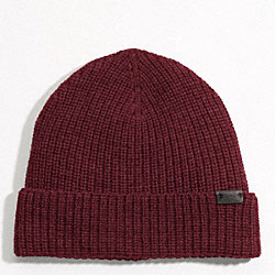 SOLID MERINO KNIT HAT