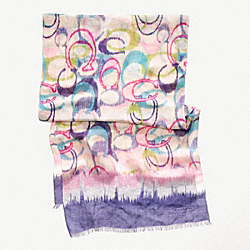 COACH IKAT SIGNATURE OBLONG SCARF - ONE COLOR - F82769