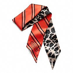 COACH OCELOT PONYTAIL SCARF - ONE COLOR - F82775