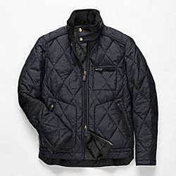 COACH BOWERY QUILTED JACKET - NAVY - F82778
