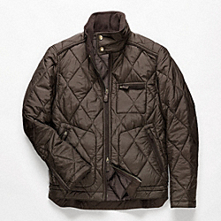 COACH BOWERY QUILTED JACKET - OLIVE - F82778