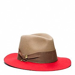CRUSHED FELT FEDORA COACH F82794