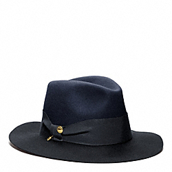 COACH CRUSHED FELT FEDORA - ONE COLOR - F82794