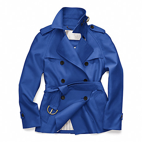 COACH CLASSIC SHORT TRENCH - COBALT - f82795