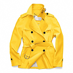 COACH CLASSIC SHORT TRENCH - SUNFLOWER - F82795