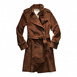 SUEDE FULL LENGTH TRENCH COACH F82801