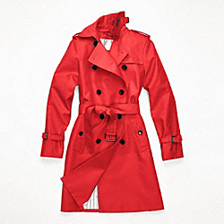 CLASSIC LONG TRENCH - f82804 - VERMILLION