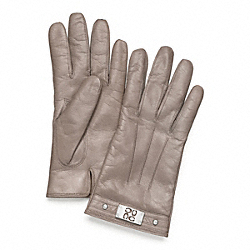 SIGNATURE PLAQUE GLOVE - SILVER/HEMATITE - COACH F82815