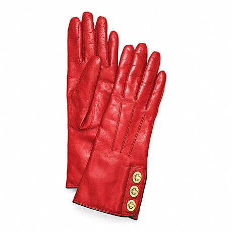 COACH f82825 3 TURNLOCK GLOVE