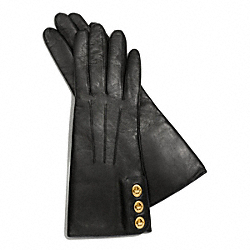 COACH THREE TURNLOCK GLOVE - BLACK 2 - F82825