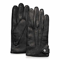 DEERSKIN GLOVE - BLACK - COACH F82867