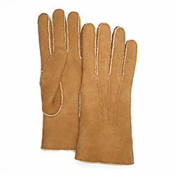 COACH SHEARLING GLOVE - NATURAL - F82868