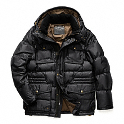 WYATT WAXED COTTON DOWN JACKET COACH F83087