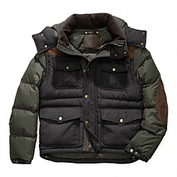CLARKSON WOOL/NYLON DOWN JACKET COACH F83088