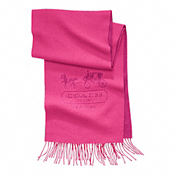 CASHMERE HORSE AND CARRIAGE SCARF COACH F83101