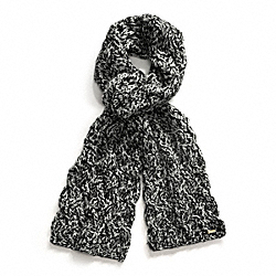 BRAIDED CABLE SCARF COACH F83104