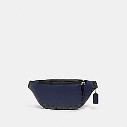 WARREN BELT BAG IN COLORBLOCK SIGNATURE CANVAS - QB/CHARCOAL CADET - COACH F83134