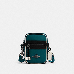 VALE PHOEBE CROSSBODY IN COLORBLOCK - QB/VIRIDIAN - COACH F83267