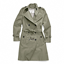 CLASSIC LONG TRENCH - JUNIPER - COACH F83342