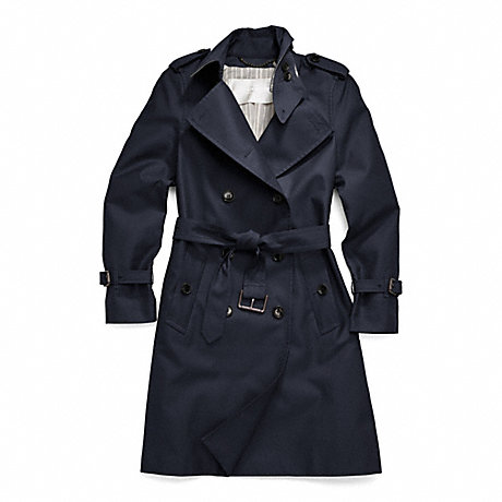COACH CLASSIC LONG TRENCH - NAVY - f83342