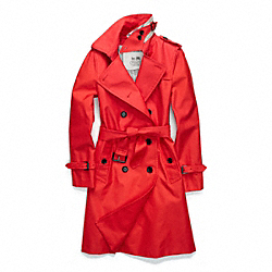 CLASSIC LONG TRENCH - f83342 - VERMILLION