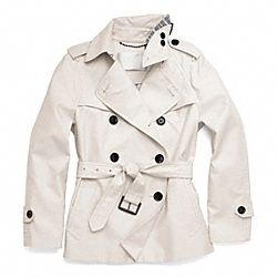 COACH CLASSIC SHORT TRENCH - ONE COLOR - F83349