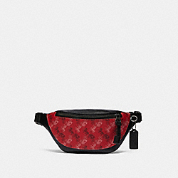 WARREN MINI BELT BAG WITH HORSE AND CARRIAGE PRINT - QB/BRIGHT RED - COACH F83411