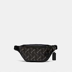 WARREN MINI BELT BAG WITH HORSE AND CARRIAGE PRINT - QB/BLACK MULTI - COACH F83411