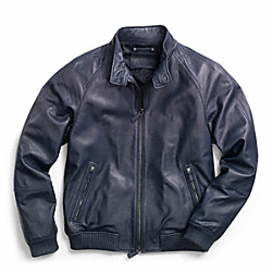 COACH BEDFORD LEATHER BARRACUDA JACKET - ONE COLOR - F83592