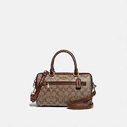 ROWAN SATCHEL IN SIGNATURE CANVAS - IM/KHAKI SADDLE 2 - COACH F83607