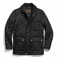 COACH QUILTED HACKING JACKET - BLACK - F83611