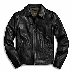 COACH LEATHER BOMBER - ONE COLOR - F83613