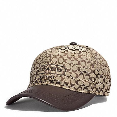COACH SIGNATURE JACQUARD BASEBALL CAP - KHAKI - f83614