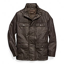 COACH WAXED COTTON FIELD JACKET - FATIGUE - F83616