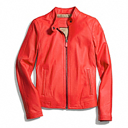 COACH ZIP LEATHER JACKET - ONE COLOR - F83635