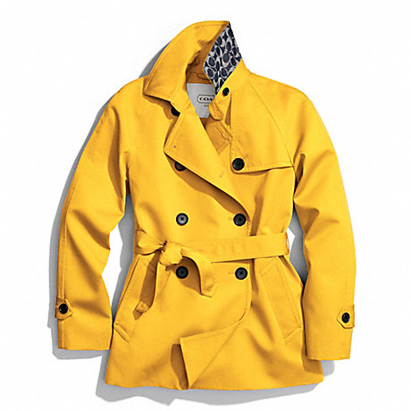 COACH SOLID SHORT TRENCH COAT -  - f83641