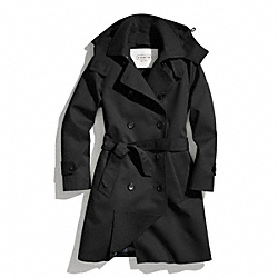COACH LONG TRENCH COAT - ONE COLOR - F83646