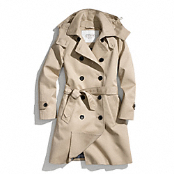 COACH LONG TRENCH COAT - KHAKI - F83646