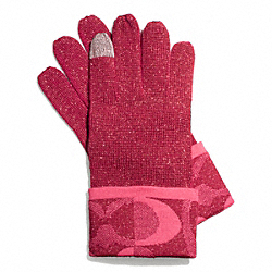 COACH TONAL DREAM C KNIT TOUCH GLOVE - ONE COLOR - F83721