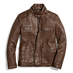 COACH HARRISON LEATHER JACKET - ONE COLOR - F83739
