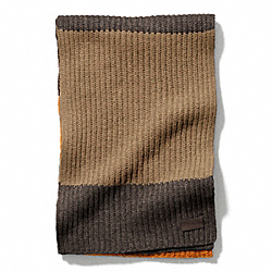 COACH BLOCK STRIPE KNIT SCARF - ONE COLOR - F83749