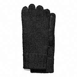 MEN'S TECH KNIT GLOVE - CHARCOAL - COACH F83757