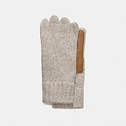 COACH MEN'S TECH KNIT GLOVE - OATMEAL - F83757